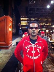 Whitehead, representing his homeland at the WSOP. (via)